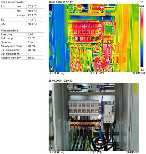 Thermal Image of a electric cabinet