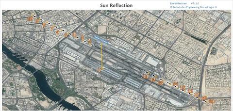 Immissionspunkte am Flughafen Dubai